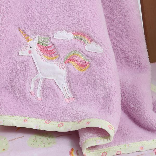 Κουβέρτα Fleece Κούνιας Nef-Nef Baby Rainbow Story