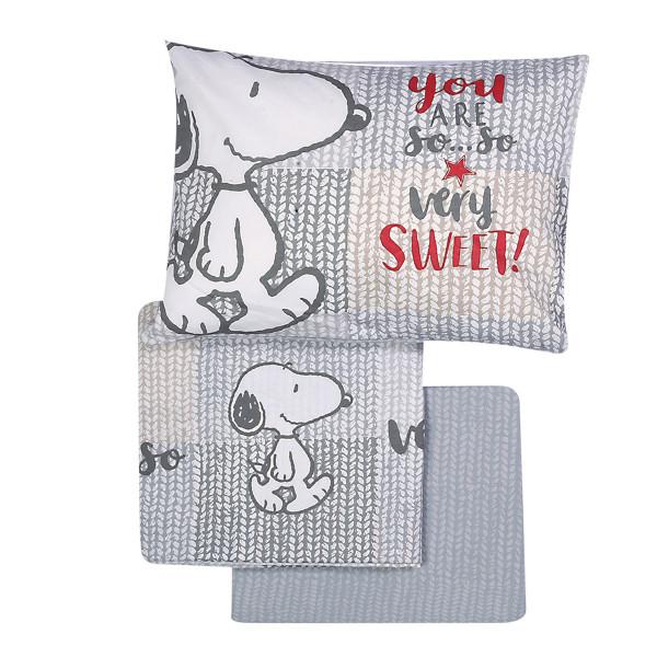Σεντόνια Κούνιας (Σετ) Nef-Nef Baby Sweet Snoopy