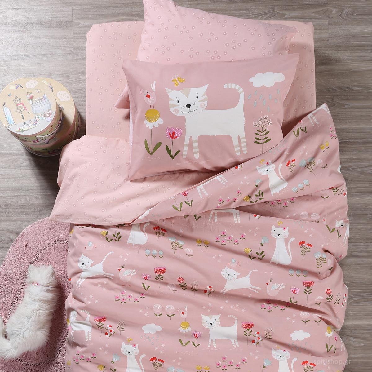 Σεντόνια Μονά (Σετ) Nef-Nef Junior Smiling Kitty