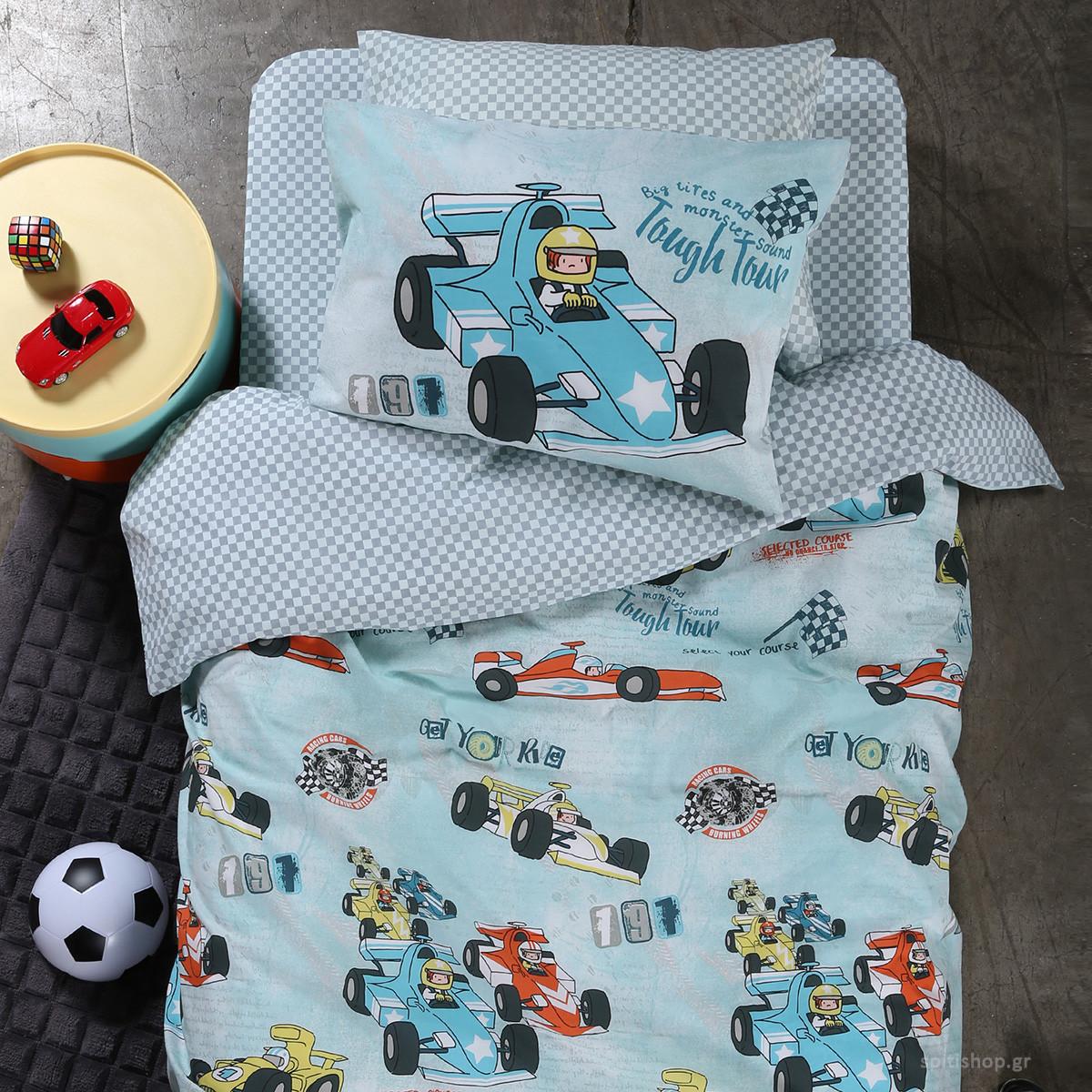 Παπλωματοθήκη Μονή (Σετ) Nef-Nef Junior Racing Cars