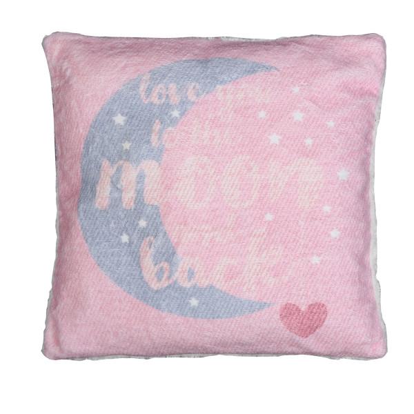 Διακοσμητικό Μαξιλάρι (40x40) Nef-Nef Moon+Back Pink
