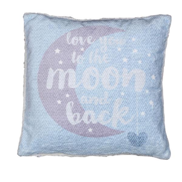 Διακοσμητικό Μαξιλάρι (40x40) Nef-Nef Moon+Back Blue