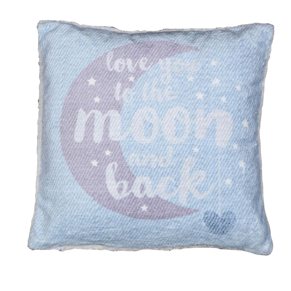 Διακοσμητικό Μαξιλάρι Nef-Nef Moon+Back Blue home   βρεφικά   διακοσμητικά μαξιλάρια