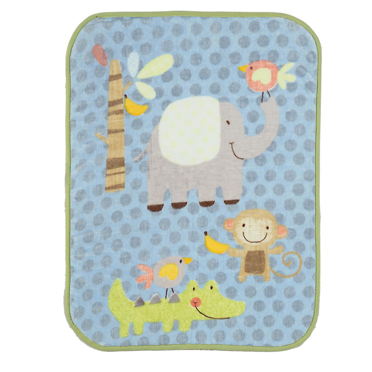 Κουβέρτα Βελουτέ Κούνιας Nef-Nef Baby Jungle Time