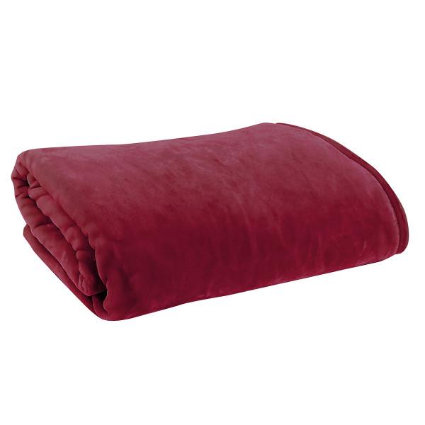 Κουβέρτα Βελουτέ Υπέρδιπλη Nef-Nef Loft Bordo