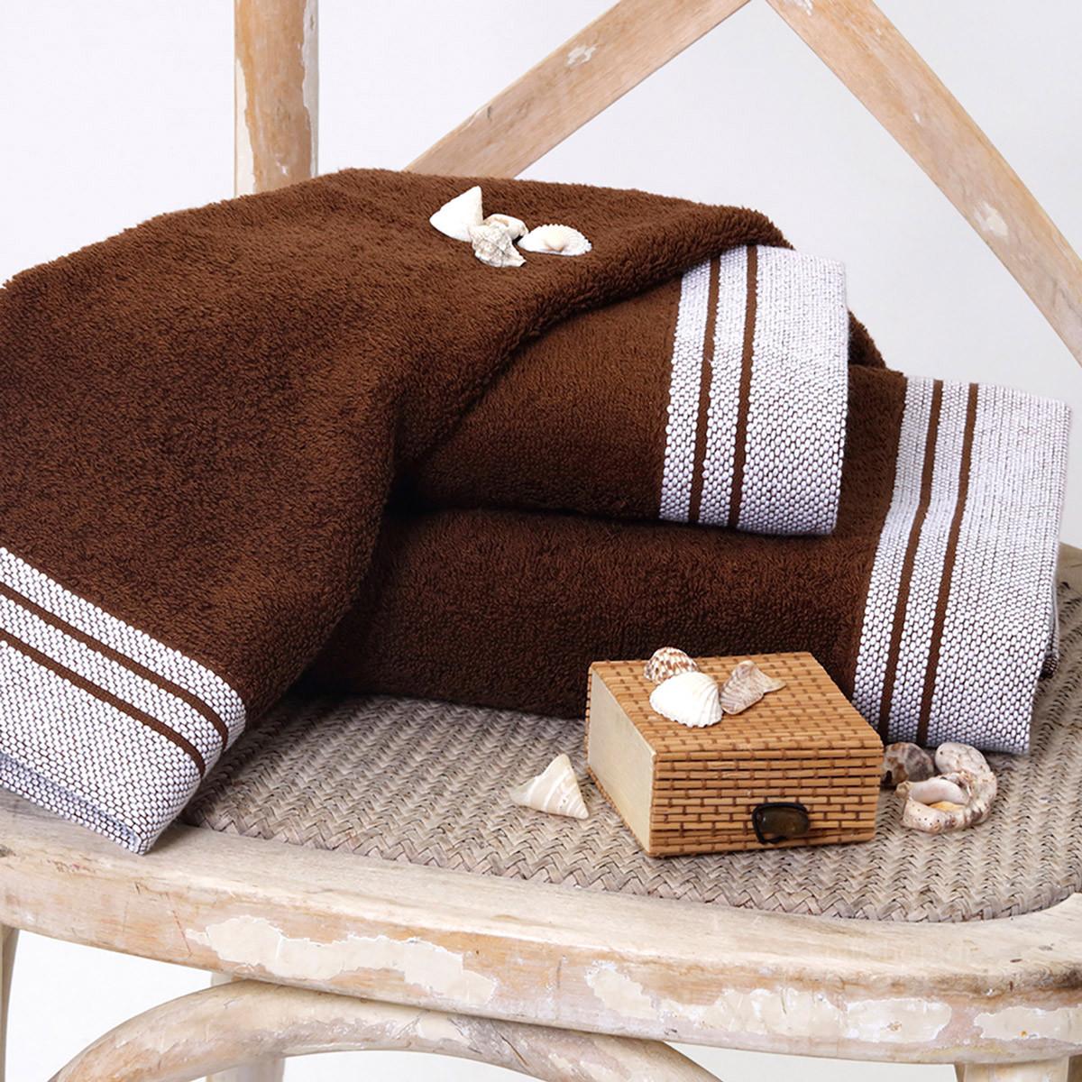 Πετσέτα Προσώπου (50×90) Sb Home Onar Brown