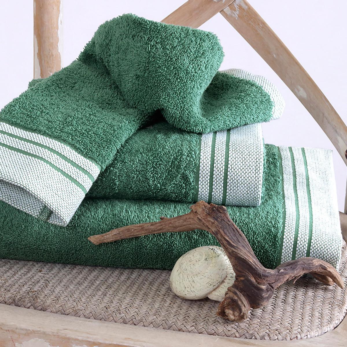Πετσέτα Προσώπου (50×90) Sb Home Onar Emerald