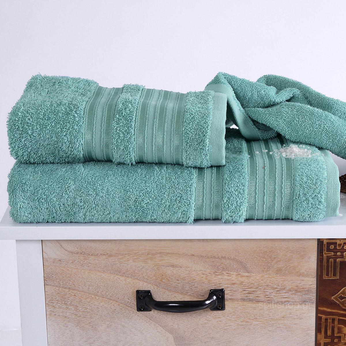 Πετσέτα Προσώπου (50×90) Sb Home Classic Aqua