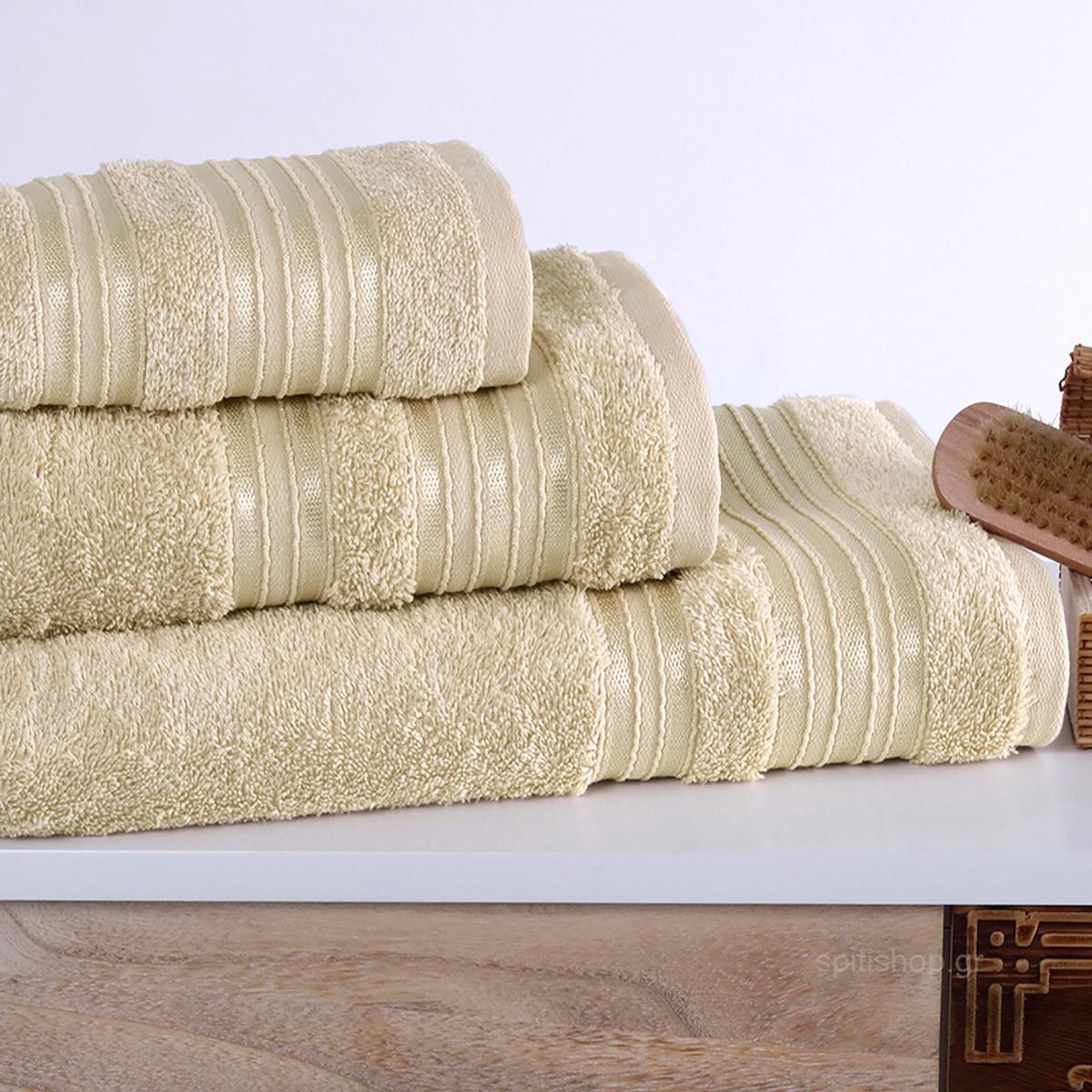 Πετσέτα Σώματος (70×140) Sb Home Classic Cream
