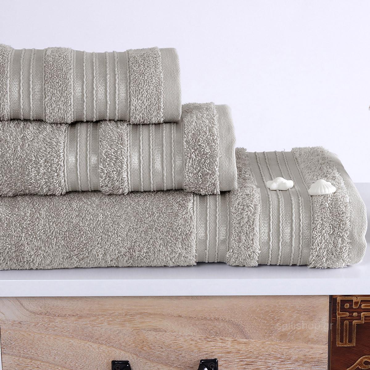 Πετσέτα Προσώπου (50×90) Sb Home Classic Grey