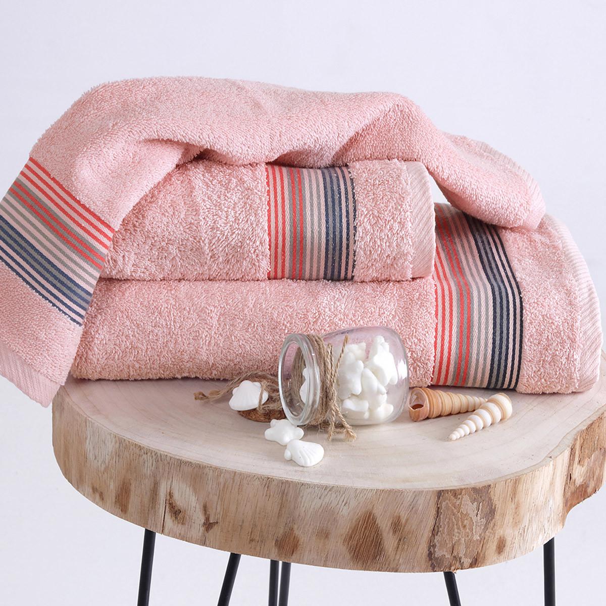 Πετσέτα Προσώπου (50×90) Sb Home Quattro Pink