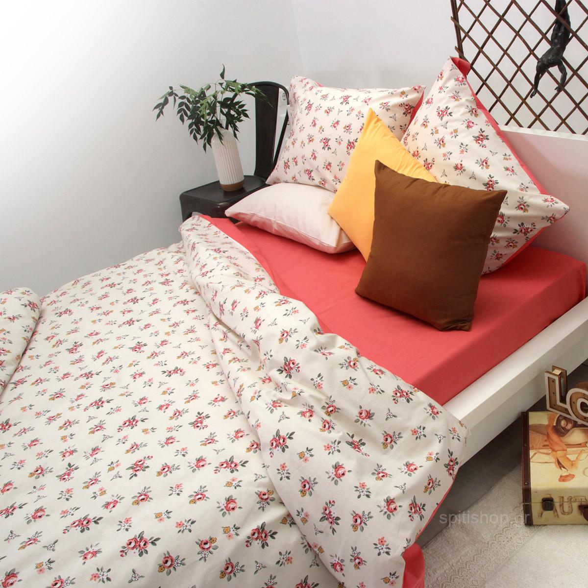 Παπλωματοθήκη Υπέρδιπλη Sb Home Floral Corali