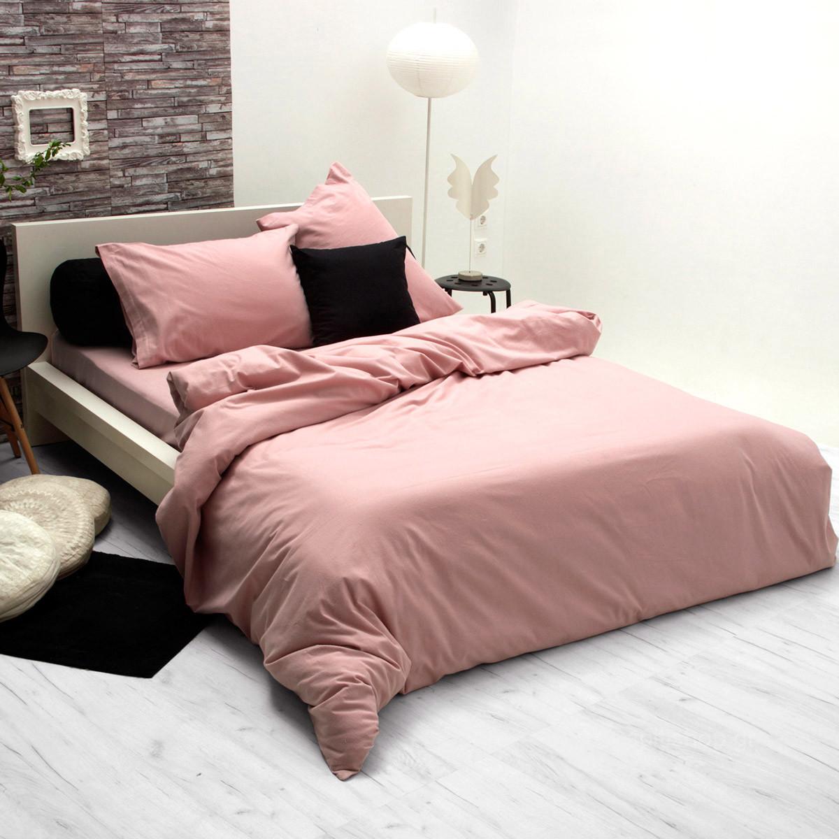 Φανελένια Παπλωματοθήκη Υπέρδιπλη Sb Home Flannel Pink