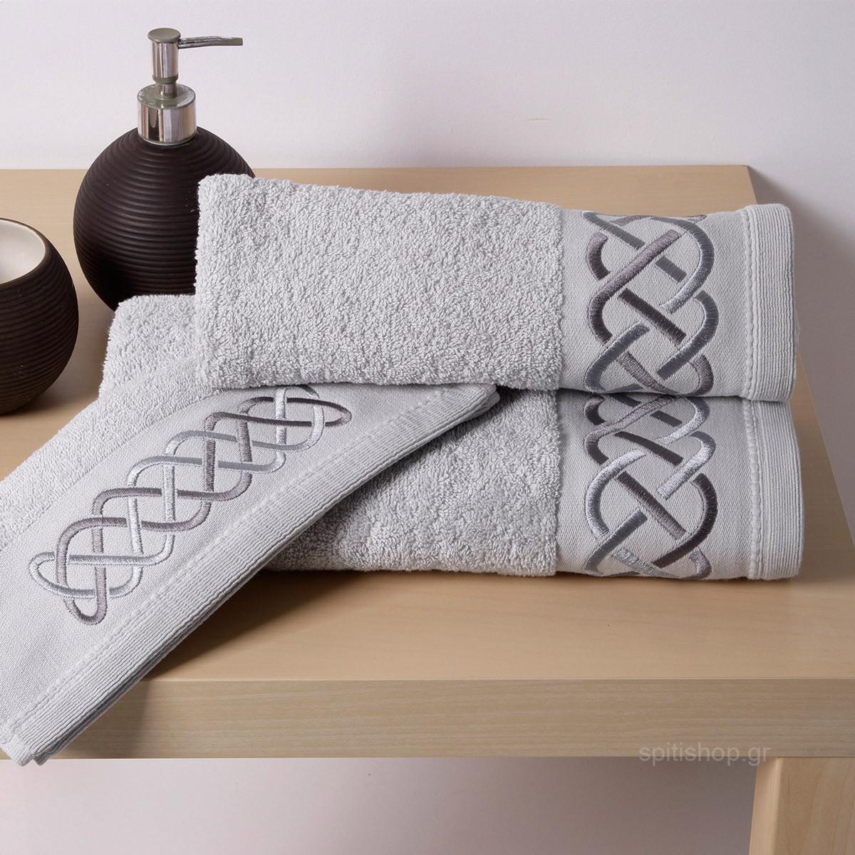 Πετσέτες Μπάνιου (Σετ 3τμχ) Sb Home Snake Siver