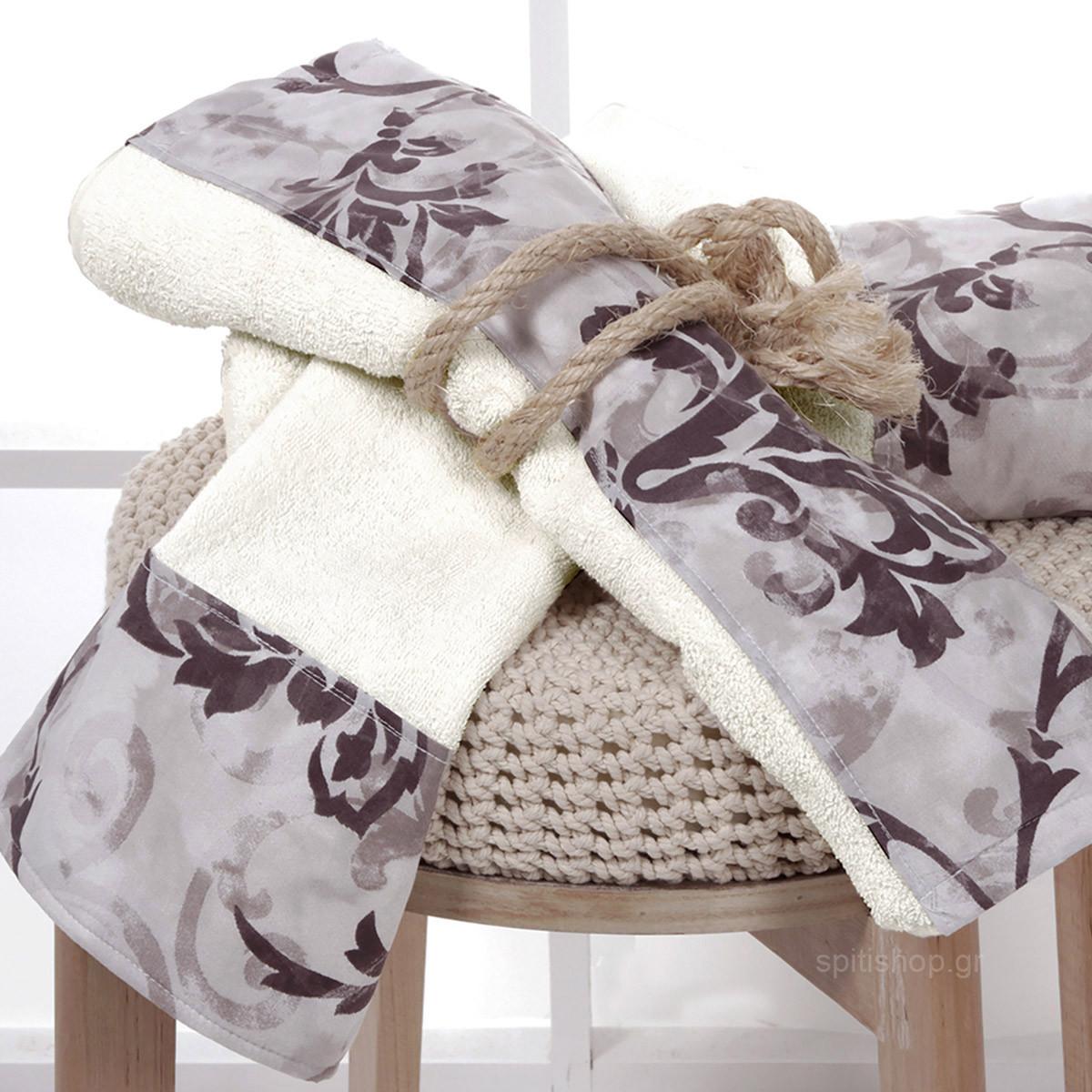 Πετσέτες Μπάνιου (Σετ 3τμχ) Sb Home Rami