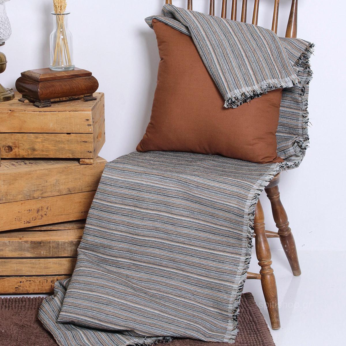 Ριχτάρι Πολυθρόνας (180×150) Sb Home Vilage Grey