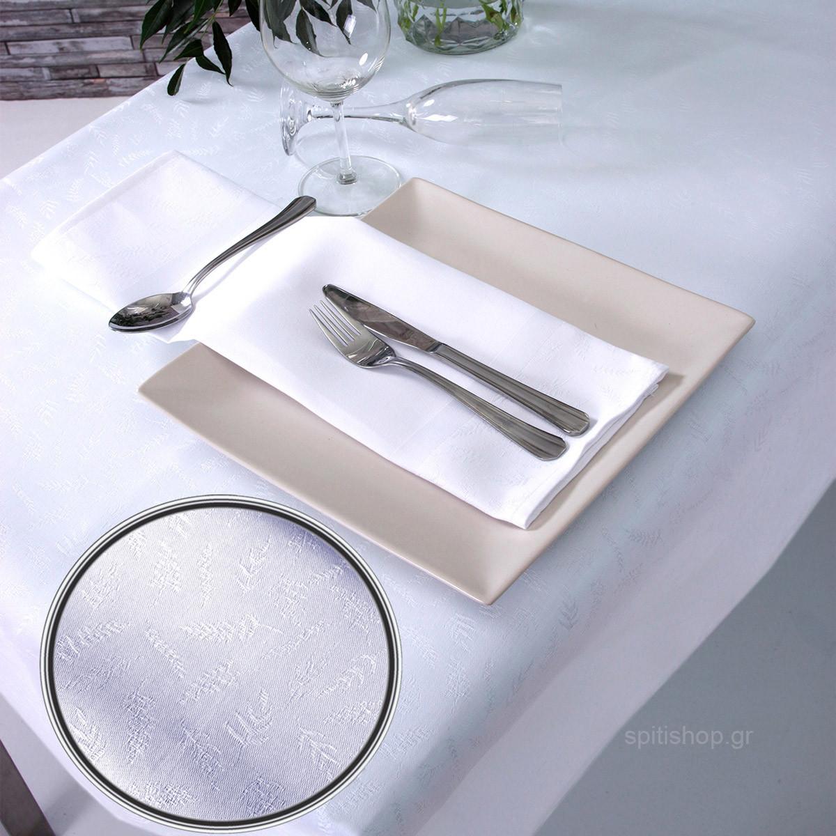 Πετσέτες Φαγητού (Σετ 2τμχ) Sb Home Leaves White