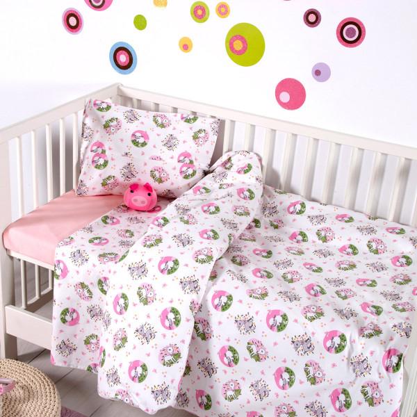 Παπλωματοθήκη Κούνιας (Σετ) Sb Home Baby Elvin Pink