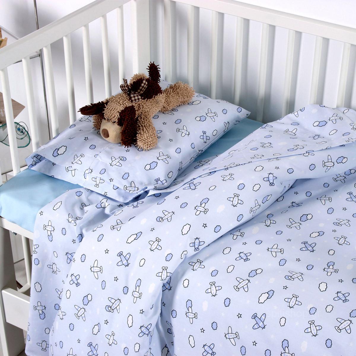 Σεντόνια Κούνιας (Σετ) Sb Home Baby Camie Blue