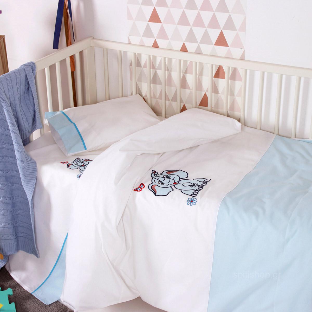 Σεντόνια Κούνιας (Σετ) Sb Home Baby Dumbo Blue