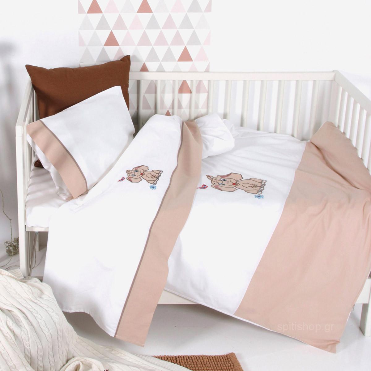 Παπλωματοθήκη Κούνιας (Σετ) Sb Home Baby Dumbo Beige