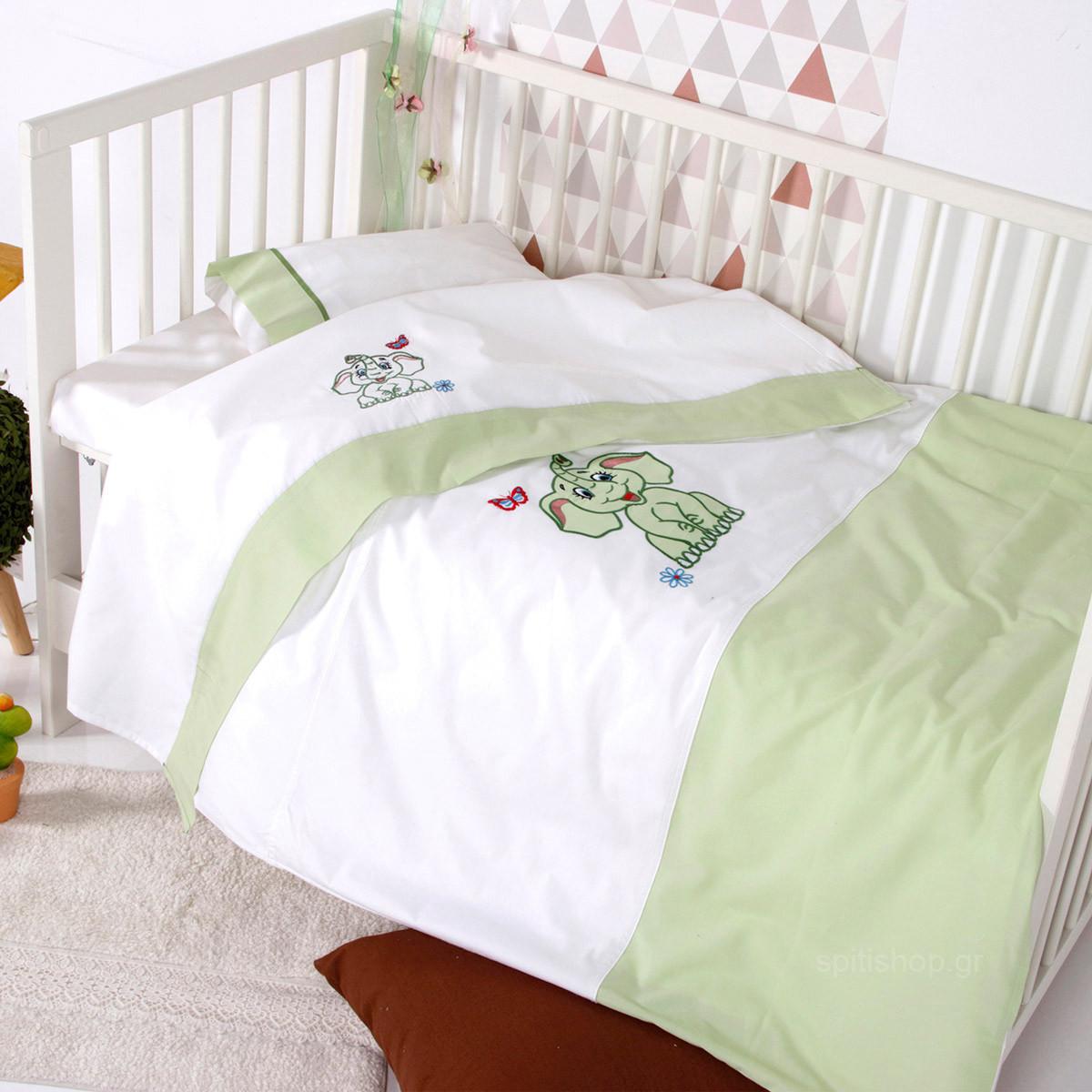 Σεντόνια Κούνιας (Σετ) Sb Home Baby Dumbo Mint