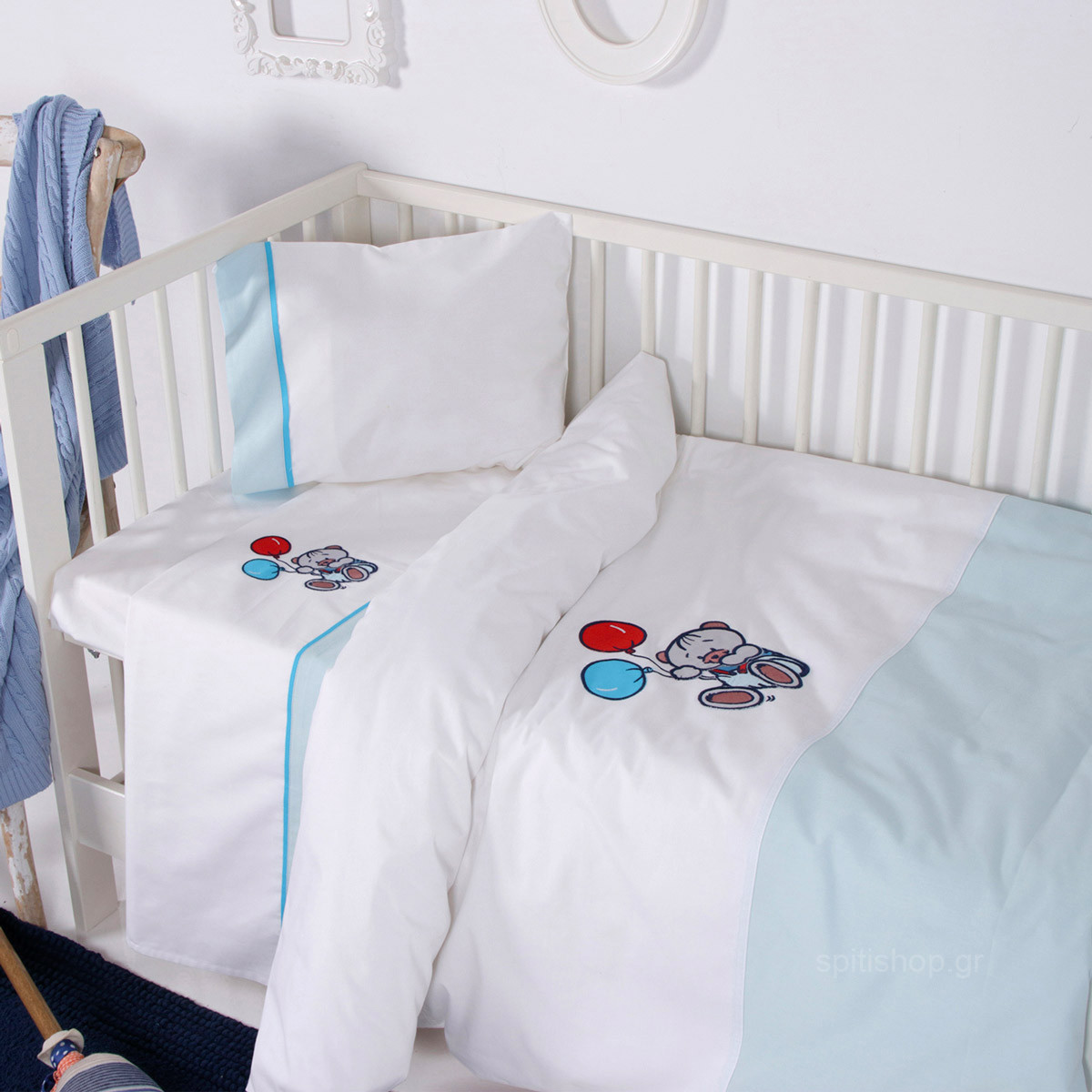 Σεντόνια Κούνιας (Σετ) Sb Home Baby Arturo Blue