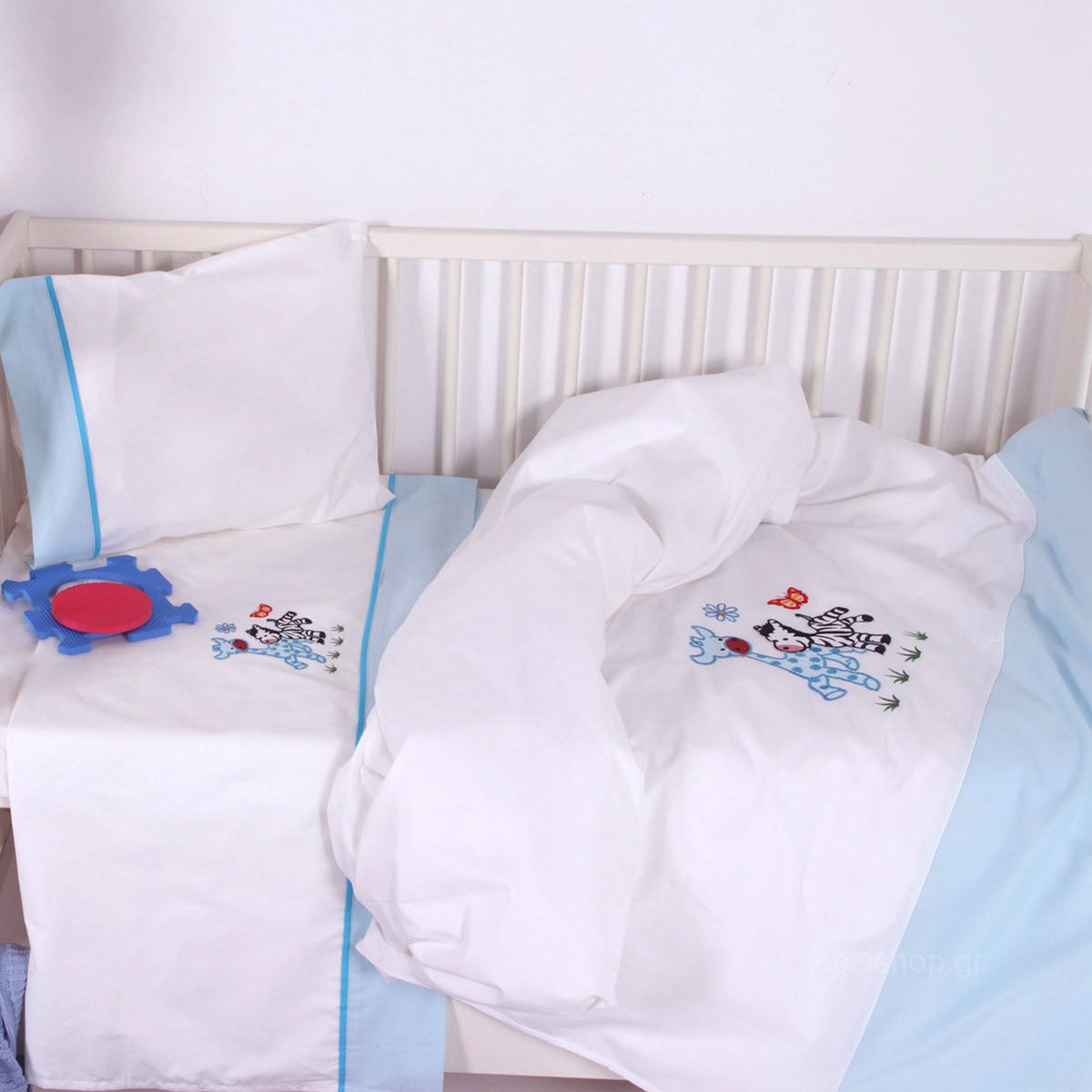 Σεντόνια Κούνιας (Σετ) Sb Home Baby Olly & Zemo Blue