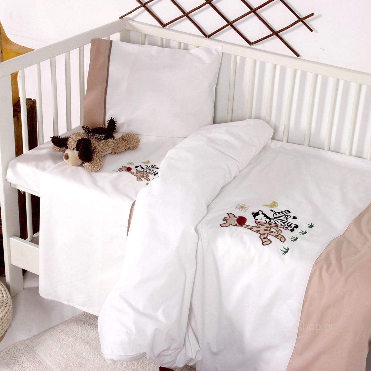 Σεντόνια Κούνιας (Σετ) Sb Home Baby Olly & Zemo Beige