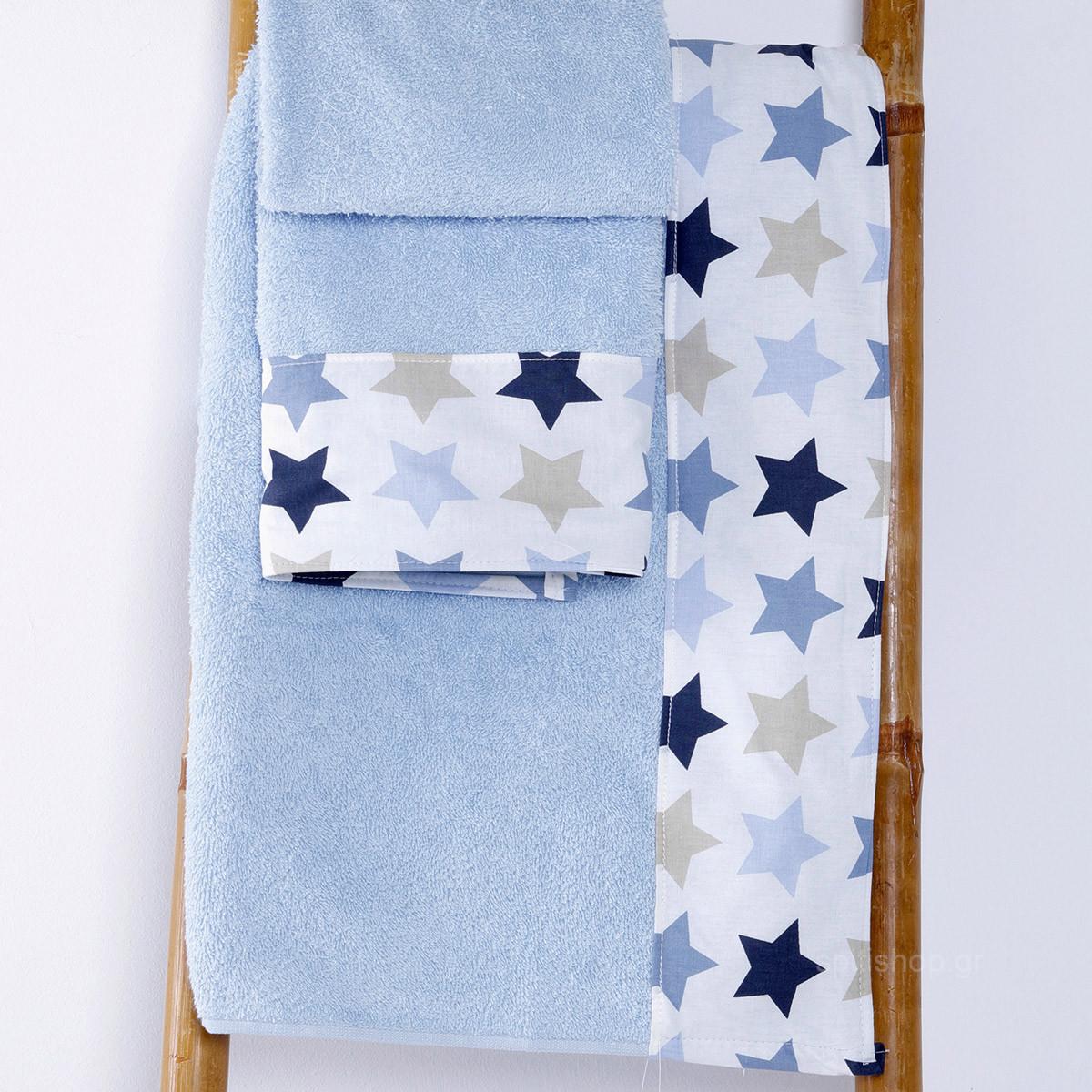 Βρεφικές Πετσέτες (Σετ 2τμχ) Sb Home Baby Stars Blue