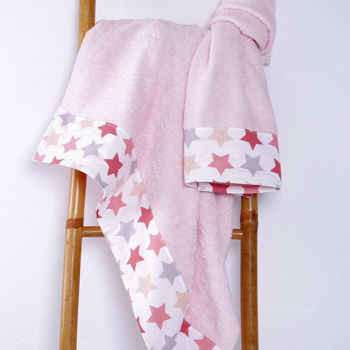 Βρεφικές Πετσέτες (Σετ 2τμχ) Sb Home Baby Stars Pink