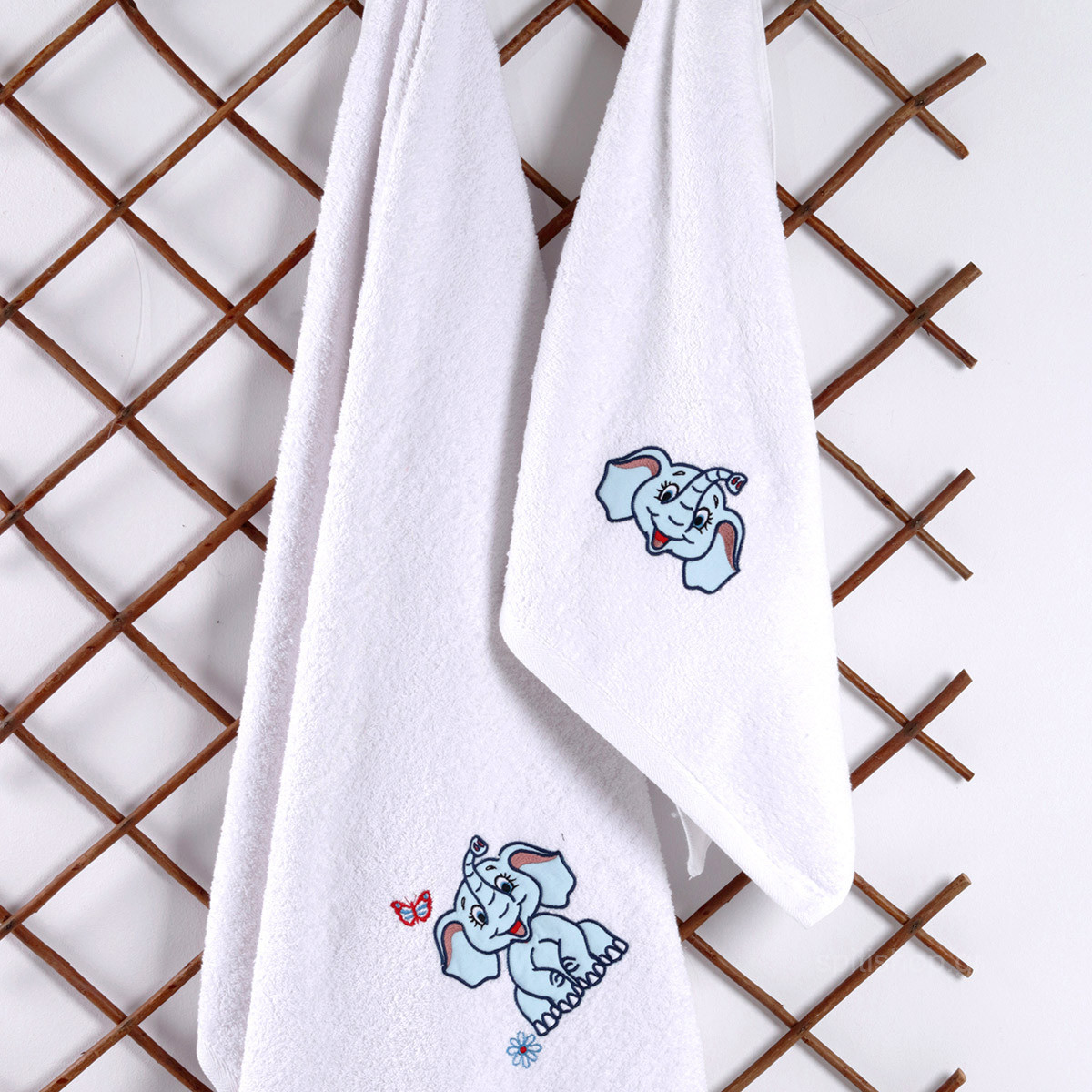 Βρεφικές Πετσέτες (Σετ 2τμχ) Sb Home Baby Dumbo Blue