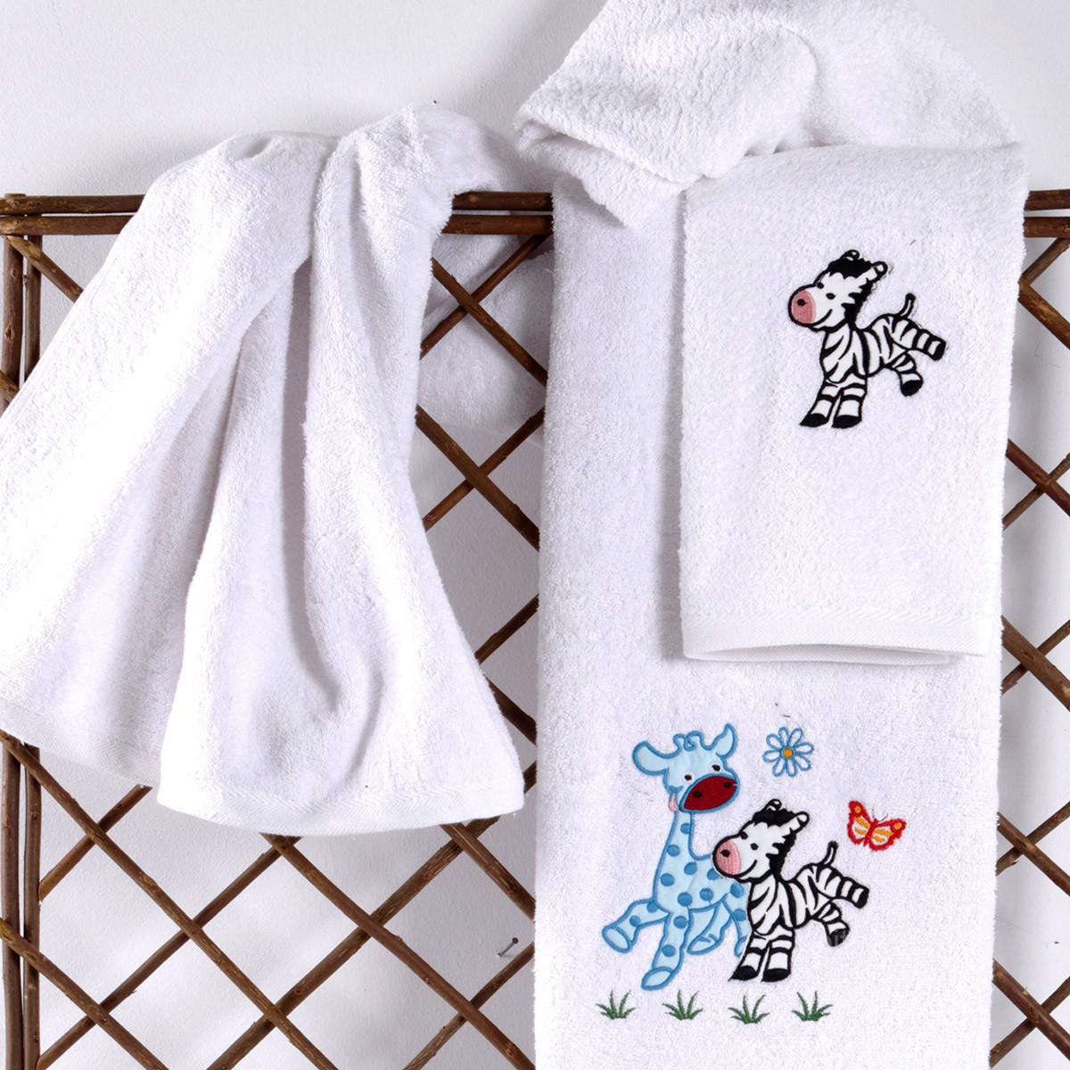 Βρεφικές Πετσέτες (Σετ 2τμχ) Sb Home Baby Olly & Zemo Blue