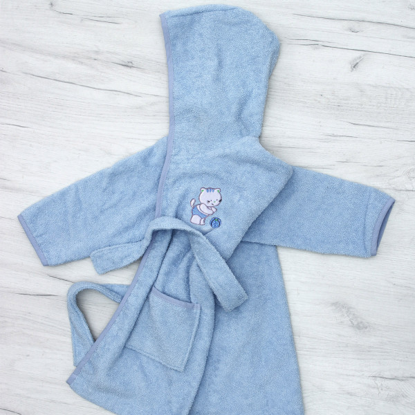 Βρεφικό Μπουρνούζι Sb Home Kitten Blue