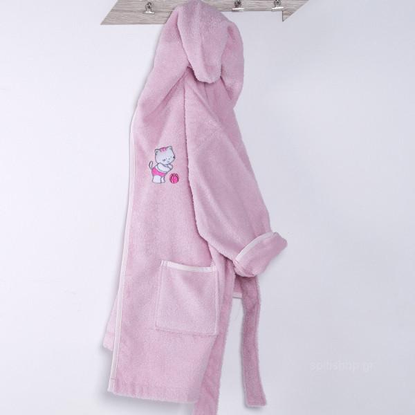 Βρεφικό Μπουρνούζι Sb Home Kitten Pink
