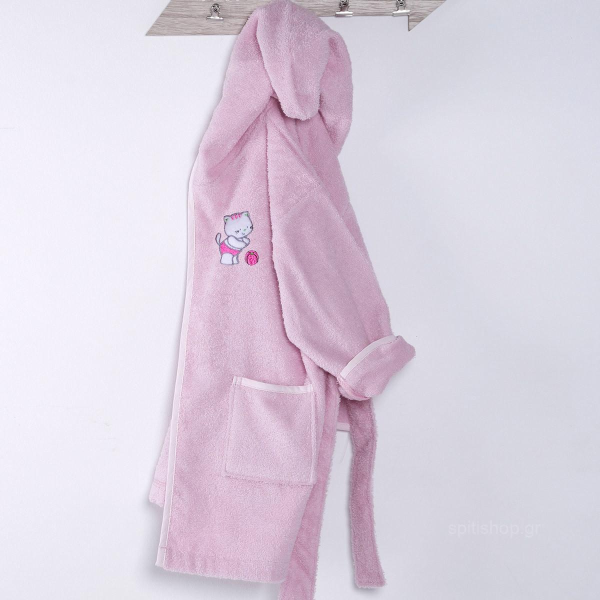 Βρεφικό Μπουρνούζι Sb Home Kitten Pink No4 No4