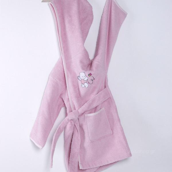 Βρεφικό Μπουρνούζι Sb Home Teddy Bear Pink