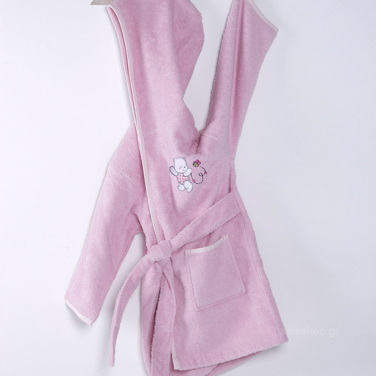 Βρεφικό Μπουρνούζι Sb Home Teddy Bear Pink No4 No4