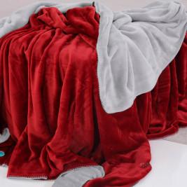 Κουβέρτα Fleece Μονή 2 Όψεων Sb Home Abbracio Silver