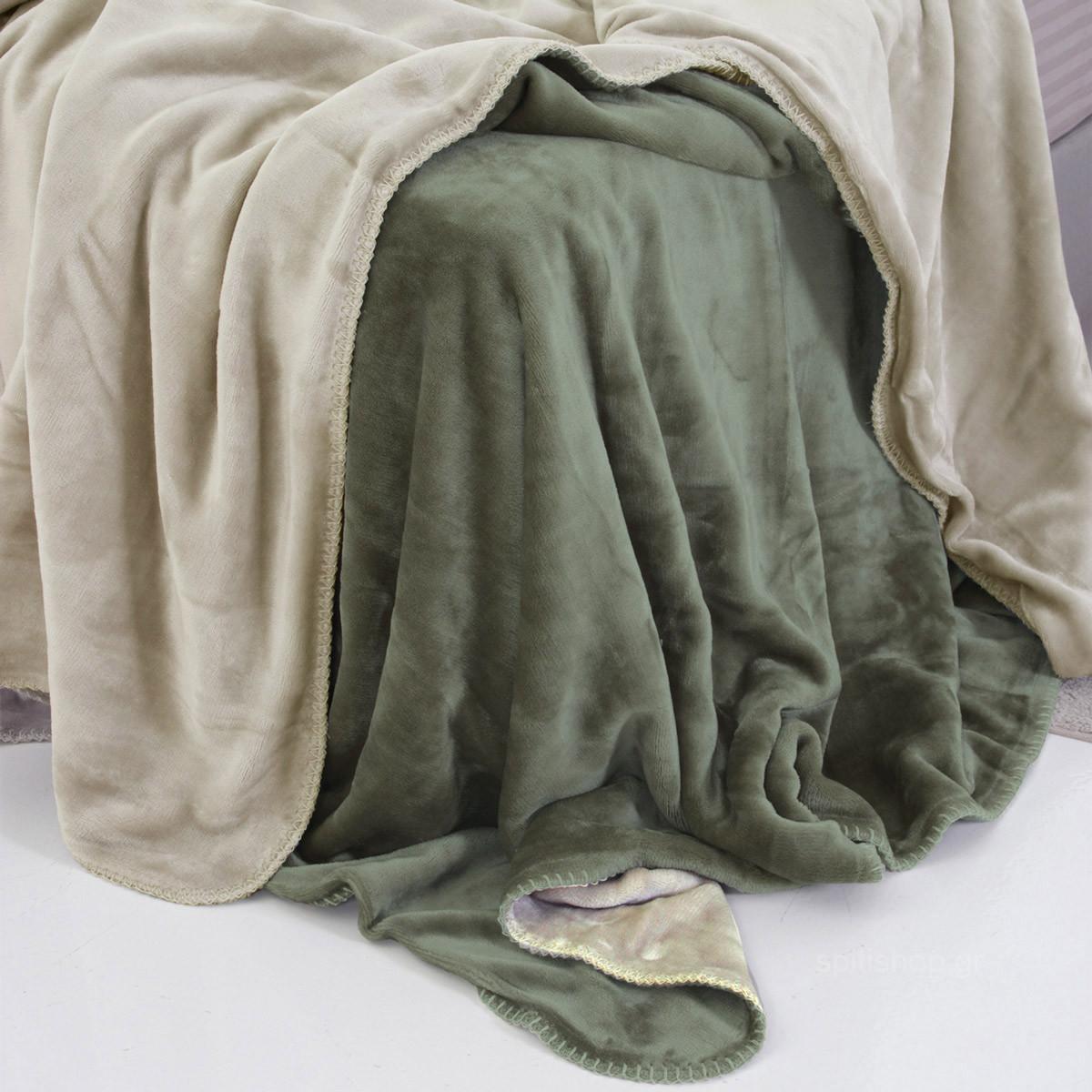 Κουβέρτα Fleece Μονή 2 Όψεων Sb Home Abbracio Ivory