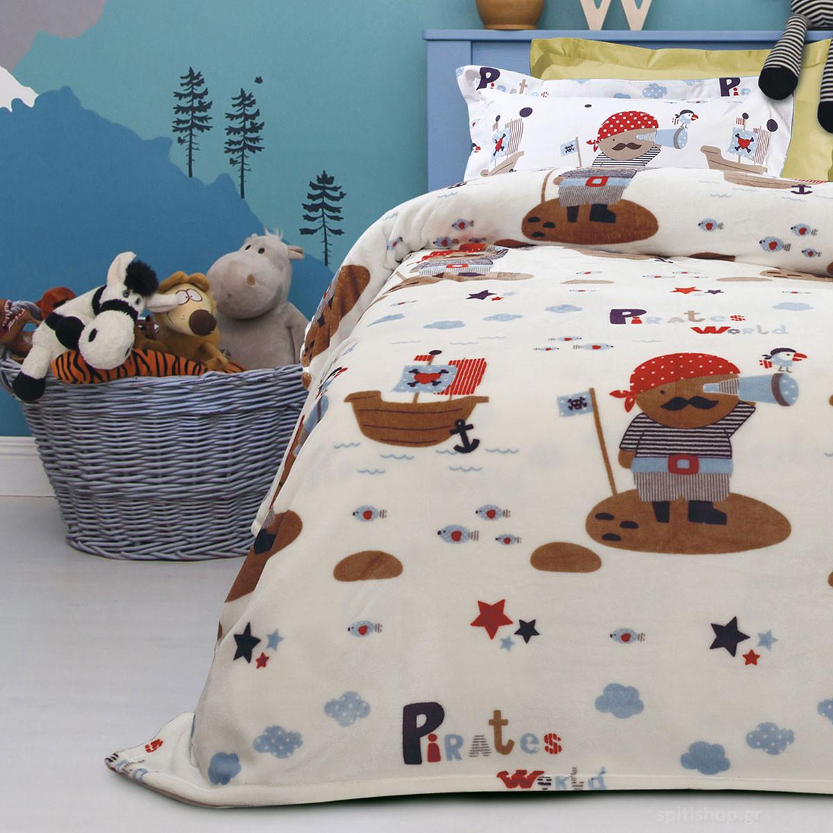 Κουβέρτα Fleece Μονή Das Home Kid Prints 4653