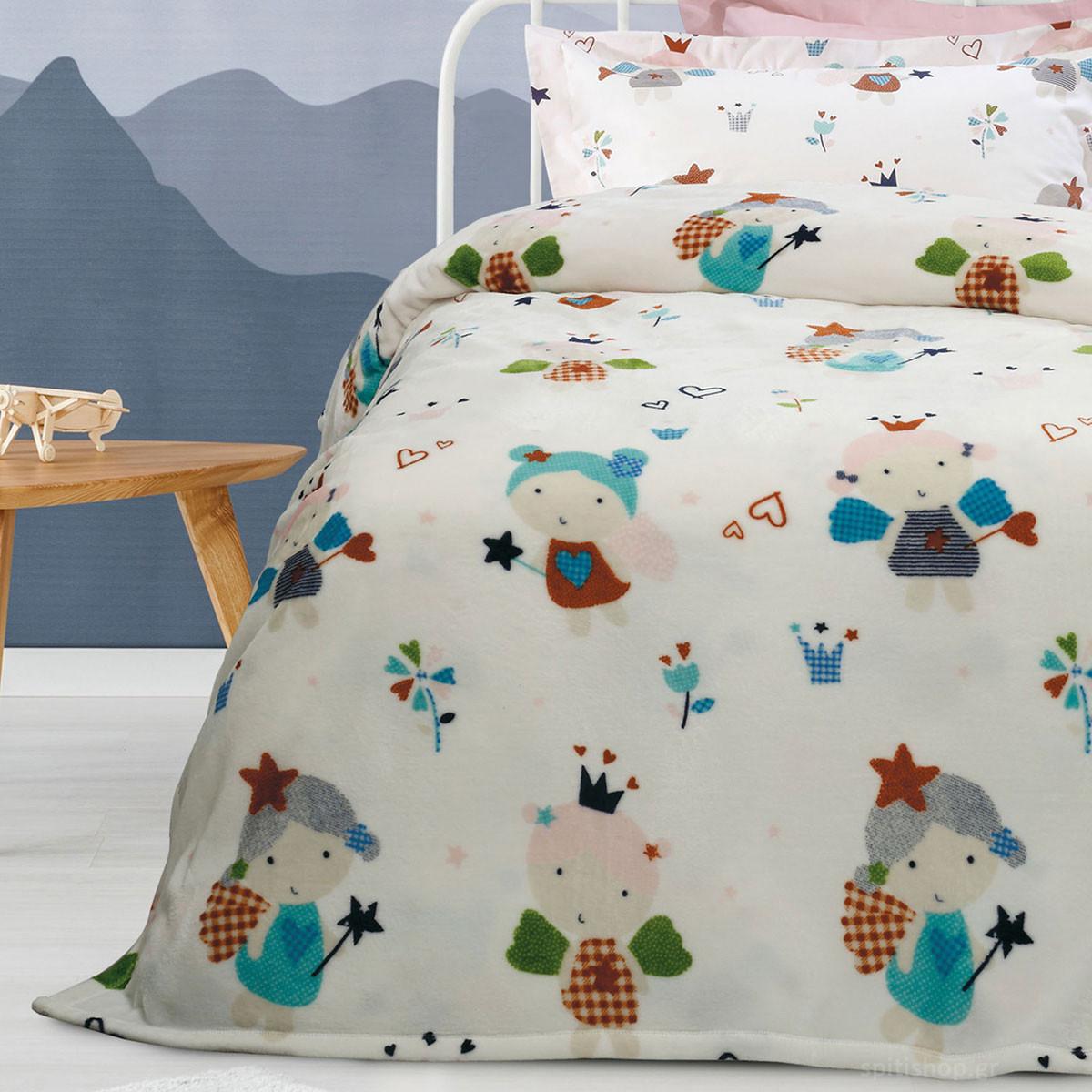 Κουβέρτα Fleece Μονή Das Home Kid Prints 4654