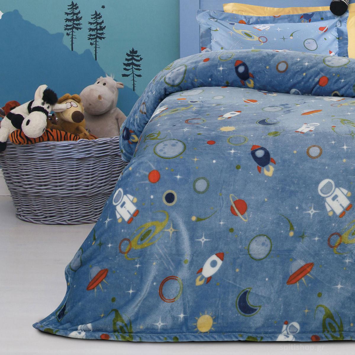 Κουβέρτα Fleece Μονή Das Home Kid Prints 4655