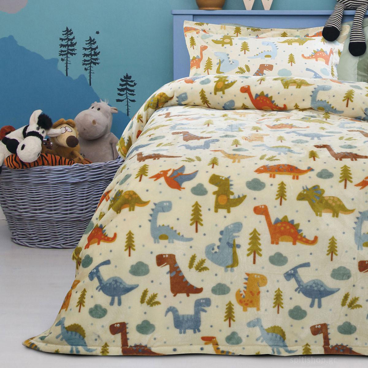 Κουβέρτα Fleece Μονή Das Home Kid Prints 4657