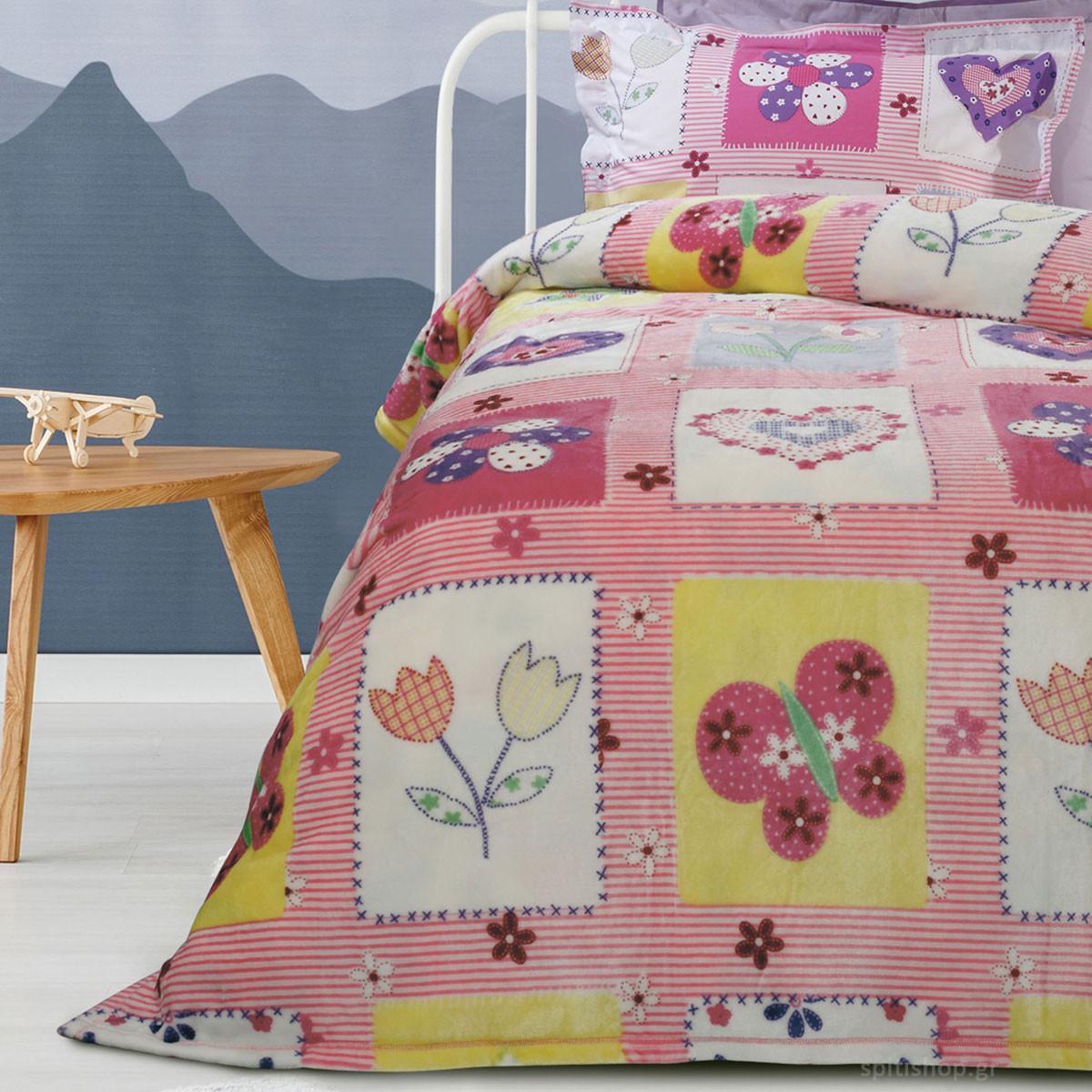 Κουβέρτα Fleece Μονή Das Home Kid Prints 4658