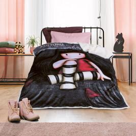 Κουβέρτα Fleece Μονή Με Γουνάκι Das Home Santoro 5015