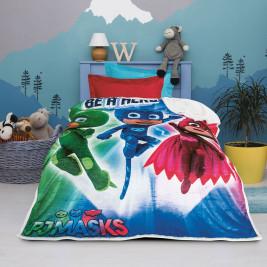 Κουβέρτα Fleece Μονή Με Γουνάκι Das Home Pjmasks 5017
