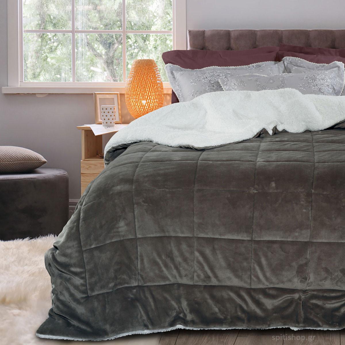 Κουβερτοπάπλωμα Υπέρδιπλο Das Home Blanket Fleece Sherpa 1124 home   κρεβατοκάμαρα   παπλώματα   κουβερτοπαπλώματα