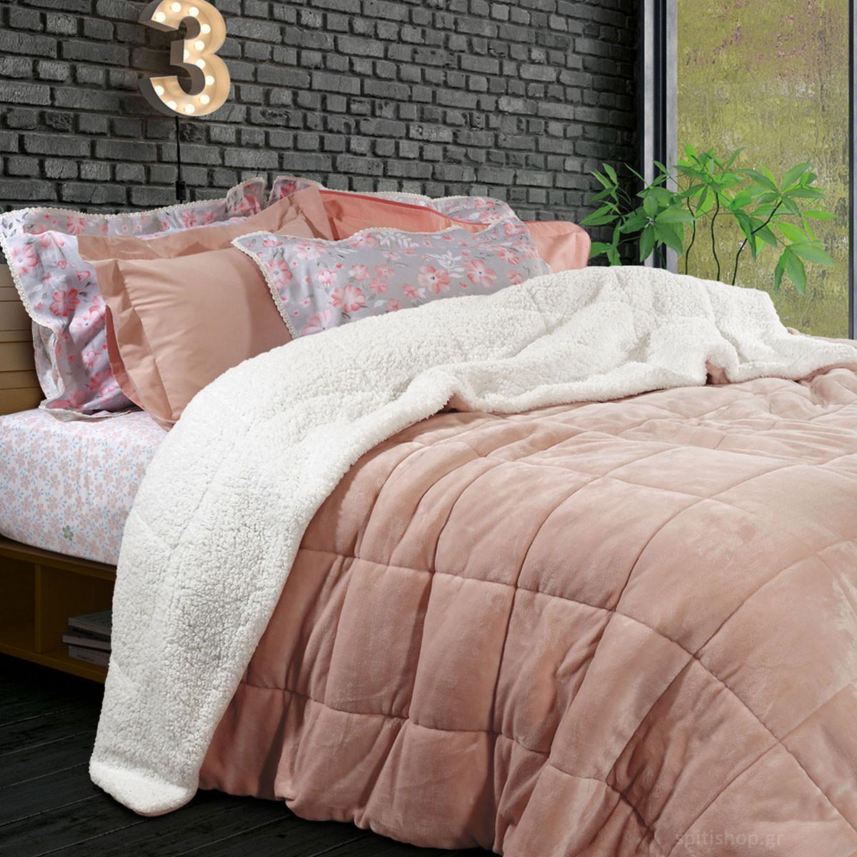 Κουβερτοπάπλωμα Υπέρδιπλο Das Home Blanket Fleece Sherpa 1125 home   κρεβατοκάμαρα   παπλώματα   κουβερτοπαπλώματα