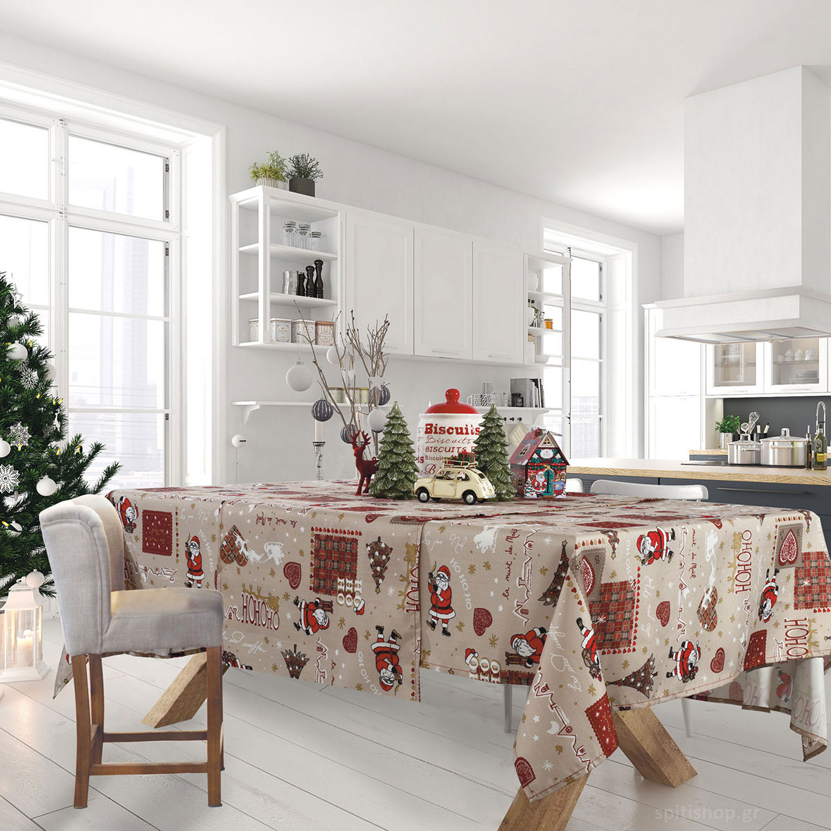 Χριστουγεννιάτικο Τραπεζομάντηλο (140×180) Das Home Xmas 570